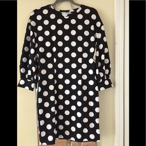 Women's Brand new polyester polka dot short dress